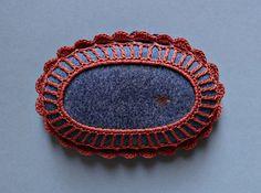 Art, Mixed Media, Crochet Lace Stone, Original, Handmade, Table Decoration, Tribal, Art Object, Collectibles, Home Decor