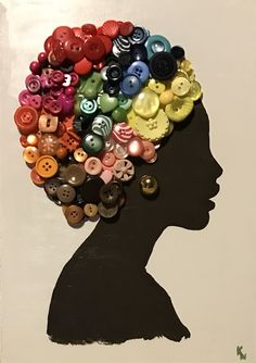 40 Decorative And Brilliant Button Art And Craft Ideas Baby Crafts, Fun Crafts, Crafts For Kids, Arts And Crafts, Summer Crafts, Button Art, Button Crafts, Afrique Art, African Art Paintings