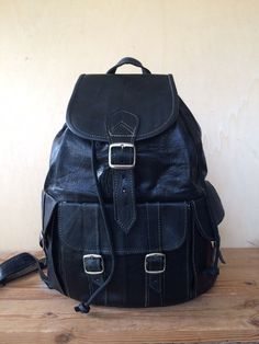 LEATHER BACKPACK, 16 INCHES - leather rucksack by ScandaloAlSole