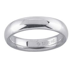 Sterling Silver 925  Wedding Band 6mm Wide  Available in Sizes 6 Through 10 US Made in the USA by OnTargetJewelry on Etsy