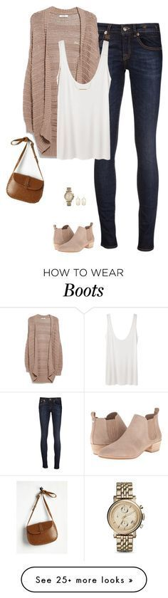 """""""Spring neutrals"""" by steffiestaffie on Polyvore featuring R13, MANGO, The Row, MICHAEL Michael Kors, Wish by Amanda Rose, FOSSIL and Kendra Scott"""