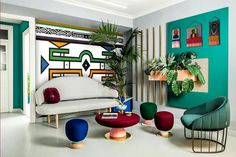 Ndebele themed lounge - Esther Mahlangu Decor, Furniture, Home Goods, Interior, House Styles, Home Decor, Home Deco, Living Room Decor Modern, Interior Design