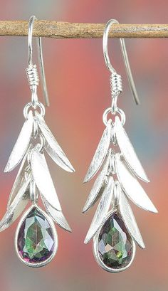 Topaz Jewellery – Amazing Silver Mystic Topaz Earring BJE-346-MT – a unique…