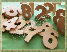 Ξυλινα διακοσμητικα νουμερα απο MDF 8'' στα 10 εκατοστα υψος. Καταλληλα για ζωγραφικη, decoupage και αλλες τεχνικες. #wooden #MDF #numbers #decor #decoupage #painting #crafting