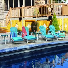 The Amish Comfy-Back Chaise Lounge Set ships fully assembled to your door just in time for pool season!!