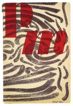 PM Magazine, A Journal for Art Directors and Production People - Herbert Bayer, 1939 Graphic Design Branding, Modern Graphic Design, Graphic Design Inspiration, Bauhaus, Herbert Bayer, Linoleum Block Printing, Editorial, Book Design, Cover Design