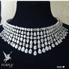 My friend from sure knows how to create breathtaking pieces! Once again she wows is with her use of fancy shaped diamonds. Brilliant craftsmanship as always from ! Real Diamond Necklace, Silver Pendant Necklace, Sterling Silver Pendants, Diamond Jewelry, Diamond Choker, Diamond Necklaces, Stone Necklace, Modern Jewelry, Luxury Jewelry