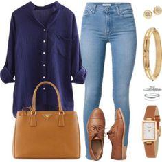 Blusa Azul Oscuro Jean Claro