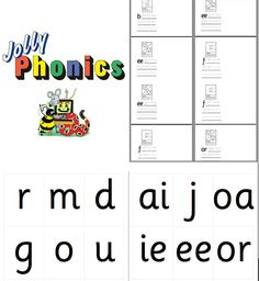 Jolly Phonics book from the original Jolly Phonics Graphics. The print out makes 2 books.