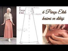 Kalıp Kullanmadan Kolay Etek - Hiç Dikiş Bilmeyenler İçin Pratik Etek / Easy skirt stitch - YouTube