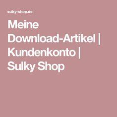 Meine Download-Artikel | Kundenkonto | Sulky Shop