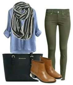 #Casual #jeans #verde