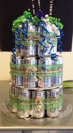 21st beer can cake for my boyfriend :D