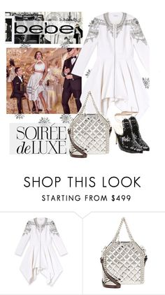 """Soirée de Luxe with bebe Holiday: Contest Entry"" by ashleigh-lauren ❤ liked on Polyvore featuring Bebe, Soiree and STELLA McCARTNEY"