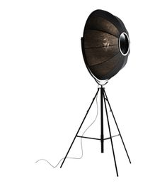 Fortuny black floor lamp