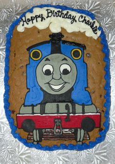 Thomas the Train cookie cake!