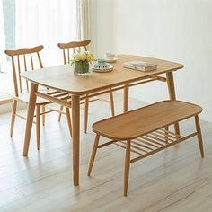 北欧现代简约小户型实木餐桌1.3M日式宜家白橡木长方形餐桌椅组合