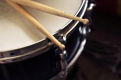 Sticks On Snare Drum Photograph