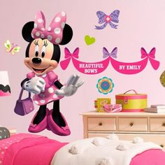 """Minnie Mouse """"Beautiful Bows"""" Giant stickers"""