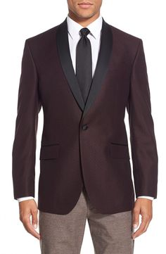 Ted Baker London Ted Baker London 'Josh' Trim Fit Wool Dinner Jacket available at #Nordstrom