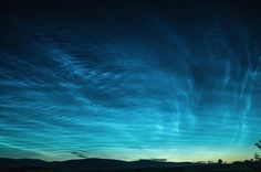 Noctilucent Clouds, Electric Blue- Taken by Tamás Csabala on July 2, 2017 @ Debrad, Slovakia