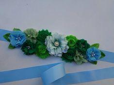 Blue & Green Maternity Sash St. Patrick's Pregnancy Belt