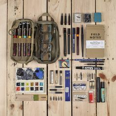 Urban Industry Store Maxpedition Every Day Carry at Urban Industry. An Artists Essentials, organized. Sac D'art, Smash Book, Watercolor Kit, Art Bag, Urban Sketching, Art Graphique, Travel Kits, Copics, Everyday Carry
