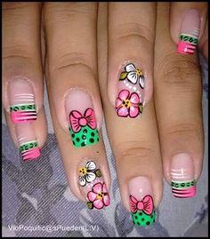 getting nails done Crazy Nail Art, Crazy Nails, Luv Nails, Pretty Nails, Short Nail Designs, Toe Nail Designs, Natural Nail Art, Magic Nails, Spring Nail Art