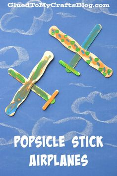 Popsicle Stick Airplanes {Kid Craft}