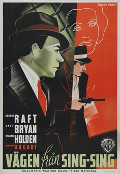 one of a lovely grouping of 1930s Hollywood film posters from Sweden...