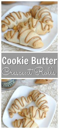 Delicious Cookie Butter Crescent Rolls made with only two ingredients: cookie butter and crescent rolls. https://www.southernfamilyfun.com/cookie-butter-crescent-rolls/ via @winonarogers