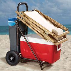 The Off Road Cooler Cart - Hammacher Schlemmer