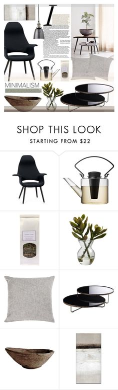 """""""calming space to live in"""" by sophie-martina on Polyvore featuring interior, interiors, interior design, home, home decor, interior decorating, Vitra, Nearly Natural, Modloft and Jamie Young"""