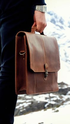 Men s Leather Messenger Bag 15