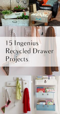 15 Ingenius Recycled Drawer Projects - Home Decor Diy Cheap Furniture Projects, Furniture Makeover, Home Projects, Diy Furniture, Timber Furniture, Furniture Styles, Antique Furniture, Furniture Cleaning, Chair Makeover