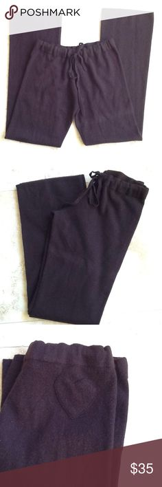 Cashmere Lounge Pants 100% cashmere lounge pants. Soft and cozy for Friday night by the fire or Sunday morning coffee and paper. Inseam is 35.. Rise is 8.. Drawstring waist...28- 33 inches give or take an inch or so. No brand...just cozy. Ply unknown ... No tears,holes,stains. Great used condition. Intimates & Sleepwear