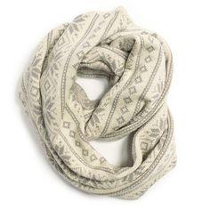 WIDE ETERNITY SCARF | MUK LUKS® Winter White Accessories