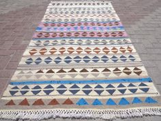Anatolia-Turkish-Antalya-Nomads-Kilim-47-2-x-91-3-Area-Rug-Kelim-Carpet-Wool