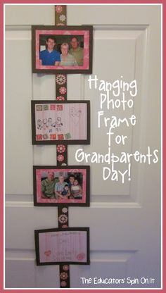 Hanging Photos Frame for Grandparents Day from The Educators' Spin On It