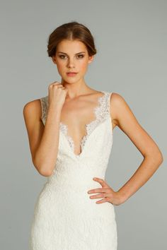 fall 2012 wedding dresses JLM couture bridal Jim Hjelm 8259 Front Detail