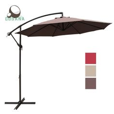 COBANA 10 Feet Cantilever Freestanding Patio Umbrella with Crank and Base, Polyester, Coffee Offset Umbrella, Cantilever Umbrella, Look Good Feel Good, Buyers Guide, A Table, Canopy, Patio, Beige