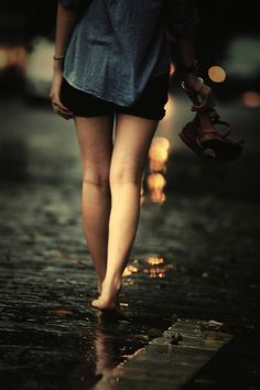 """stepping into every rain puddle walking barefoot through dirty places and """"inappropriate"""" places can sometimes make me feel uninhibited. lol uplifting a bit, maybe. Story Inspiration, Character Inspiration, The Last Summer, Walking Barefoot, Singing In The Rain, No Rain, When It Rains, Getting Wet, Fantasy"""