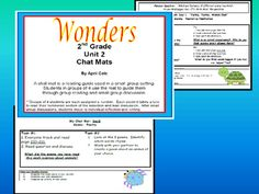 This file contains guided reading pages for 2nd grade WONDERS Unit 2 stories. Use this reading guide in small groups to help children stay focused, organized, and engaged as they read the story. Laminate or slide into a sheet protector.
