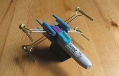 Star Wars X-Wing Fighter Made From Office Supplies ~ cool!
