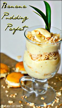 Banana Pudding Parfait @SECooking | Sandra | Sandra