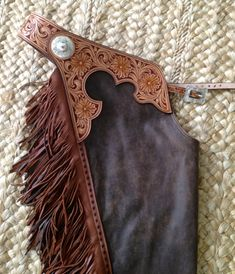 Hand Tooled Western Leather Chaps by Black Horse Leather Cowgirl Style Outfits, Cowgirl Fashion, Country Outfits, Country Girls, Cowgirl Bling, Gypsy Cowgirl, Shotgun Chaps, Wade Saddles, Western Chinks