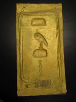 cartouche in sheetrock Gold Contact Paper, What A Relief, Deep Space Sparkle, 5th Grade Art, Black Sharpie, Egyptian Art, Gold Paint, Ancient Egypt, Art For Kids