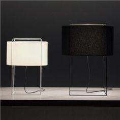 Moderne Tischleuchte Trommel Design aus Eisen Gestell und Stoff Schirm