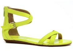 Neon Rebecca Minkoff sandals