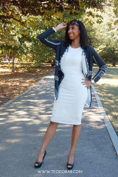 TeodoraB.com dress and jacket #weartowork #classy #professional #pencil #skirt